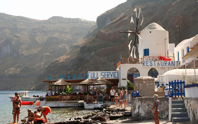 Греция Санторини Остров Тирассия