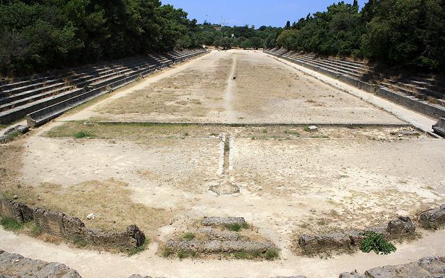 Греция Родос Античный стадион Родоса