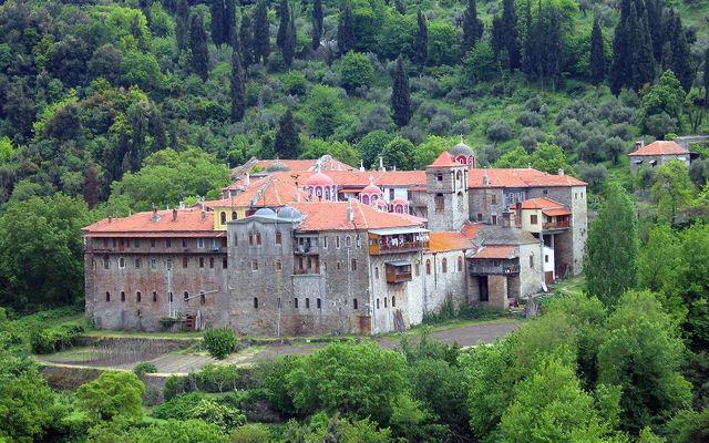 Греция Афон Монастырь Констамонит