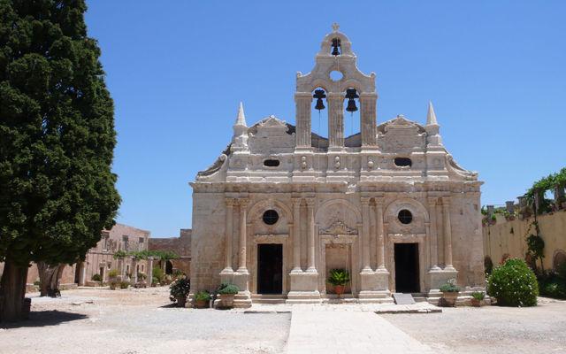 Греция Крит Церковь монастыря Аркади Ретимно