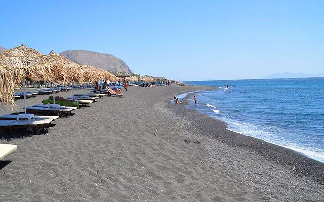 Греция Санторини Пляж Периволос