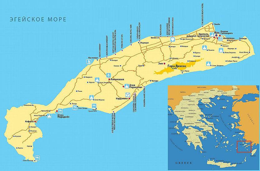 Карта Коса