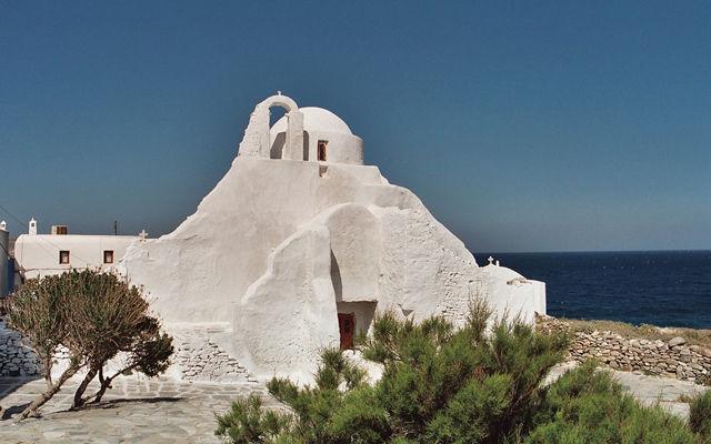 Греция Миконос Церковь Парапортиани