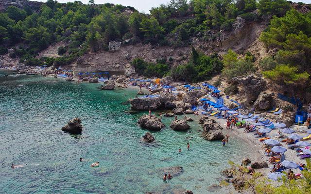 Греция Родос Пляж Энтони Куинн (Вайес)
