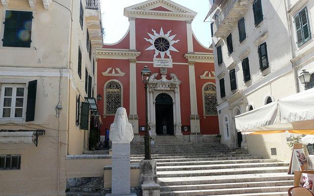 Греция Корфу Собор Панагия Спилиотисса в Керкире