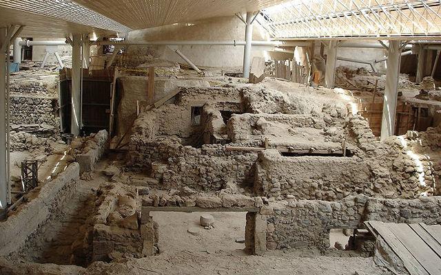 Греция Санторини Археологический заповедник Акротири