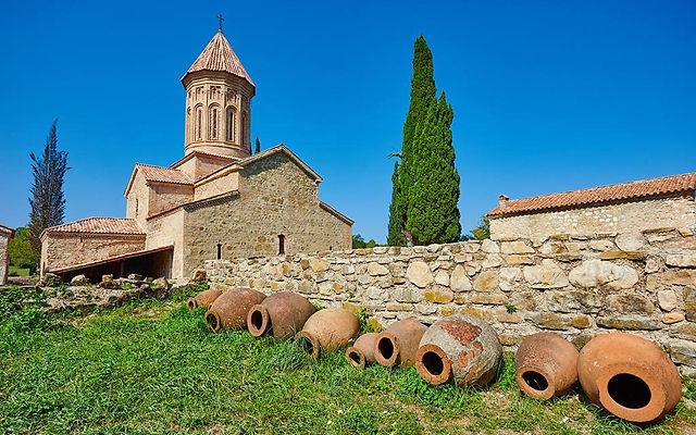 Грузия Монастырь Икалто Телави