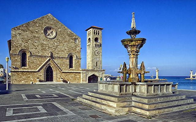 Греция Родос Епископская церковь Евангелимос