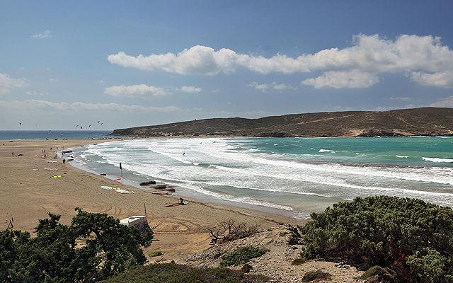 Греция Родос Пляж Прасониси