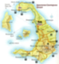 Карта Санторини