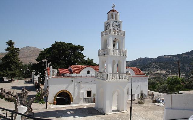 Греция Родос Монастырь Цамбика