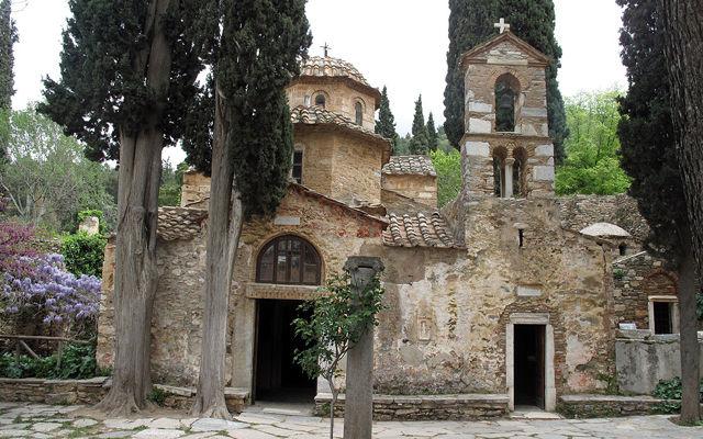 Греция Монастырь  Кесариани Афины