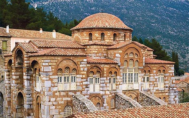 Греция Монастырь  Блаженного Луки