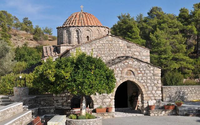 Греция Родос Монастырь Мони Тари