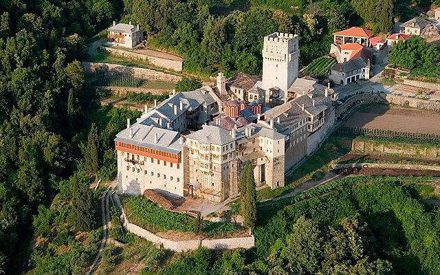 Греция Афон Монастырь Каракал