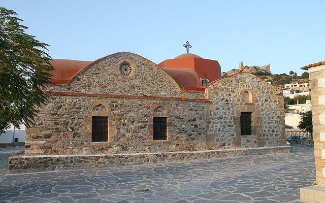 Греция Родос Церковь Успения Пресвятой Богородицы в Асклипио