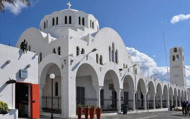 Греция Санторини Кафедральный собор Фиры