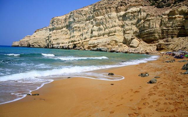 Греция Крит Красный пляж область Ираклион