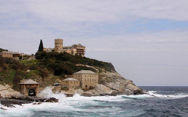 Греция Афон Монастырь Ставроникита