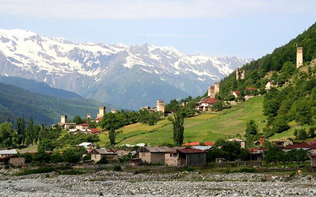 Грузия Поселок Местиа Самегрело и Земо-Сванети