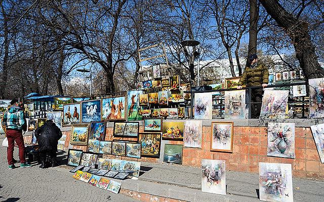 Грузия Сухой мост сувенирный рынок Тбилиси