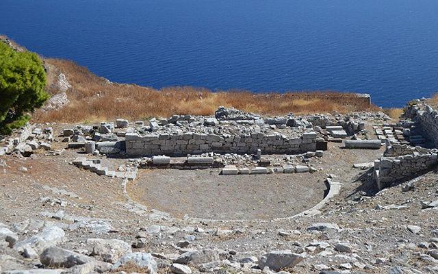 Греция Санторини Античная Фира