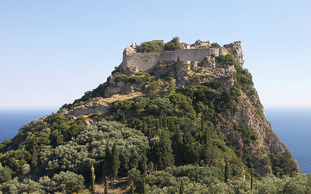Греция Корфу Крепость Ангелокастро