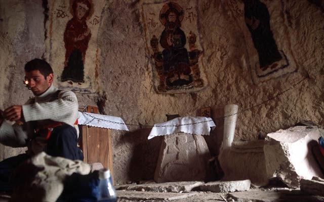 Грузия Древний пещерный монастырский комплекс Бетлеми Мцхета