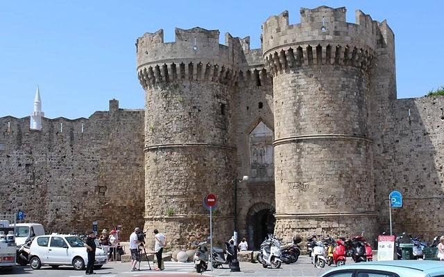 Греция Родос Портовые Морские ворота