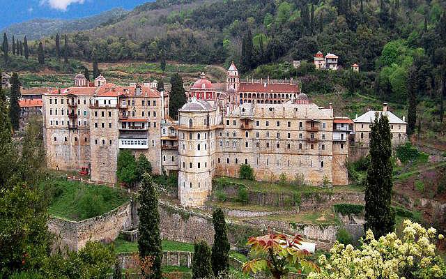 Греция Афон Монастырь Зограф