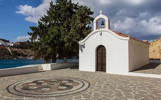 Греция Родос Часовня Святого Павла Линдос