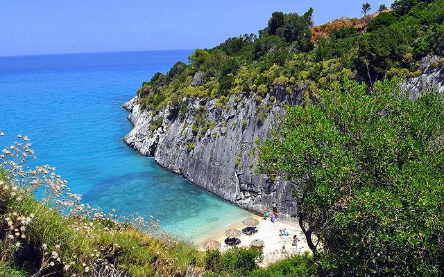 Греция Закинф Пляж Ксигия