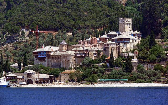 Греция Афон Монастырь Дохиар