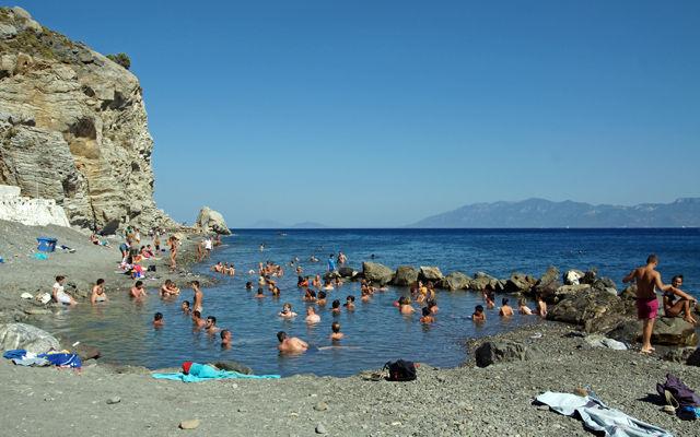 Греция Кос Пляж Горячие источники Терма Кос