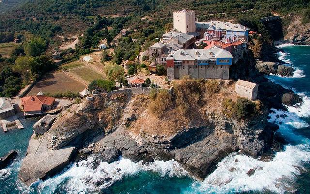 Греция Афон Монастырь Пантократор
