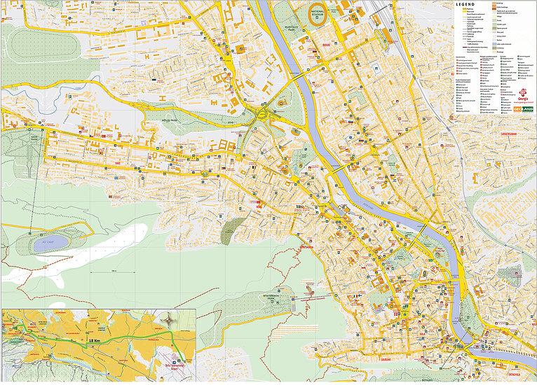 Карты Грузии, Тбилиси