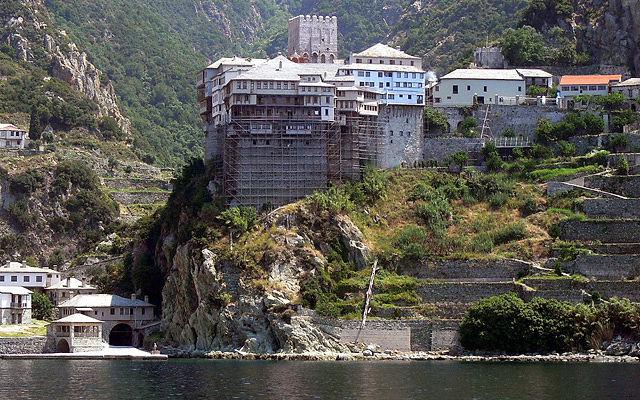 Греция Афон Монастырь Дионисиат