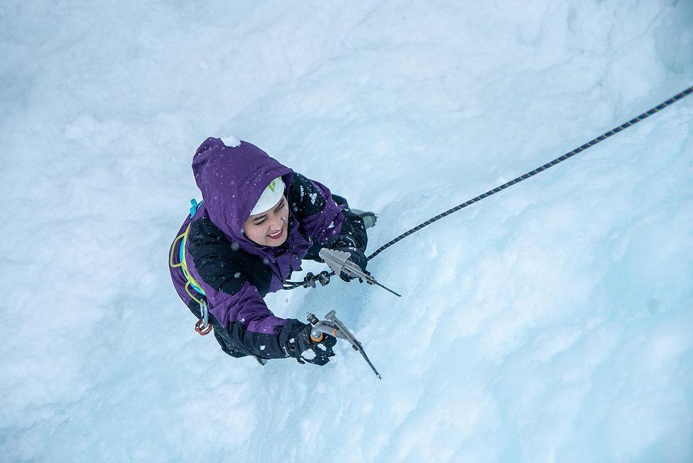 Afghan ice climber