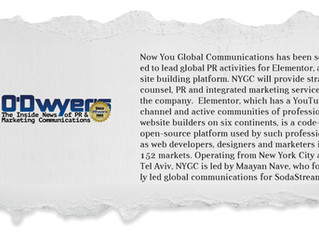 Now You Global Communications has been selected to lead global PR activities for Elementor