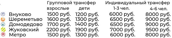 Цена трансфер из Смоленска в аэропоты Мо