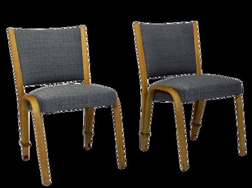 Set de 2 chaises Bow Wood 1950 édition Steiner