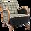 Thumbnail: Fauteuil art déco 1930 entièrement restauré. Réf Charlot