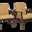 Thumbnail: Paire de fauteuils conçus par Henryk Lis 1970.