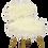 Thumbnail: La chaise Pelfran, kitsch et culte. Ref OURS BLANC