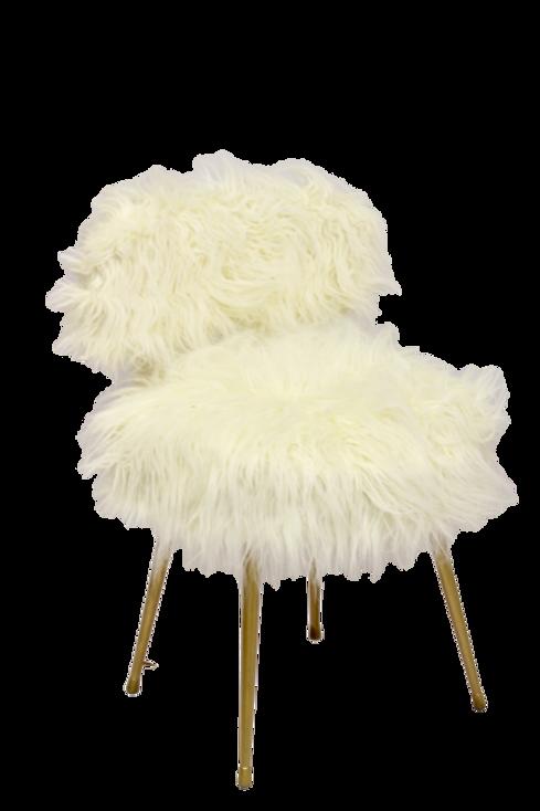 La chaise Pelfran, kitsch et culte. Ref OURS BLANC