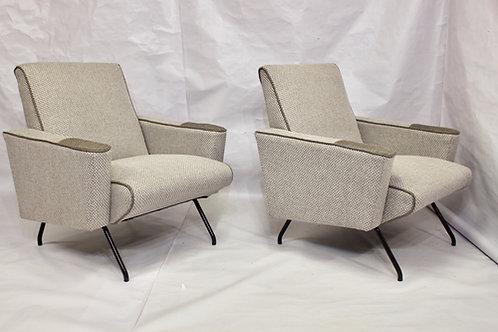 Paires de fauteuils années 1950