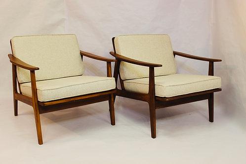 Paire de fauteuils style scandinave 1950 1960