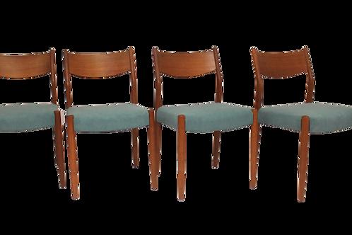 Set de 4 chaises en teck  Cees Braakman pour Pastoe 1960 Ref CURACAO