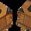 Thumbnail: Paire de tables de chevet vintage bois vernis année 50