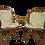 Thumbnail: Paire de fauteuils vintage en rotin année 60 pieds papillons.